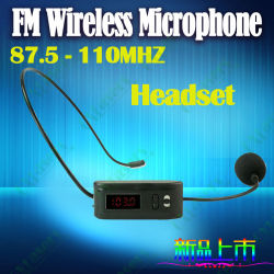 FM wireless microphone for megaphone loudspeaker and bus tour guide conference sales promotion wireless headset cheap price HOT