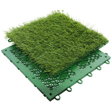 Topcourts factory high quality easy installation interlocking artificial grass tile