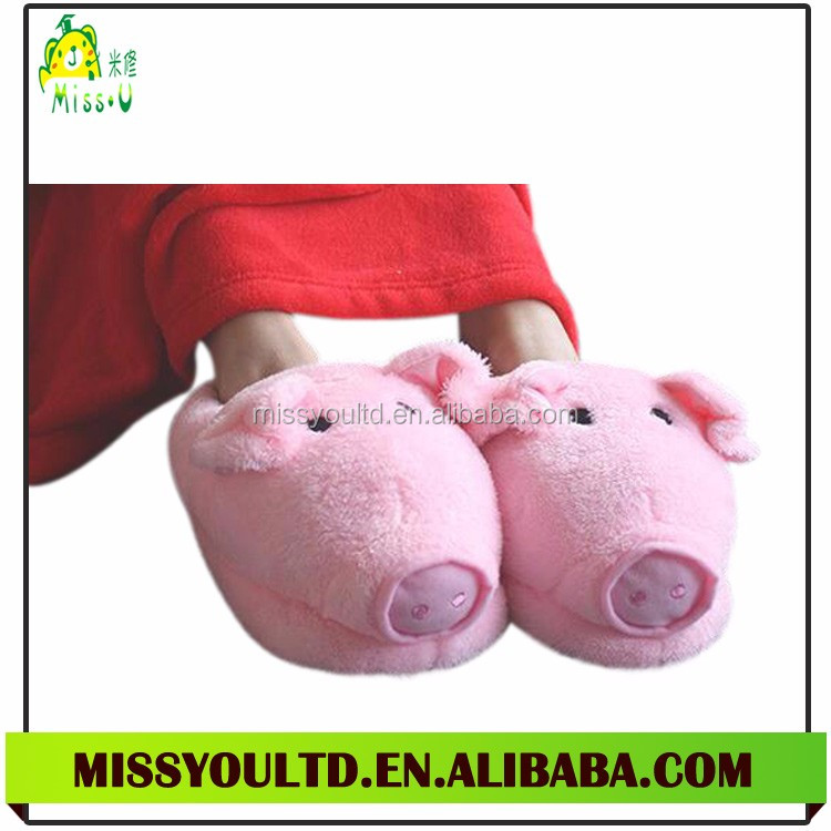 Pink Pig Ladies Winter Home Slippers
