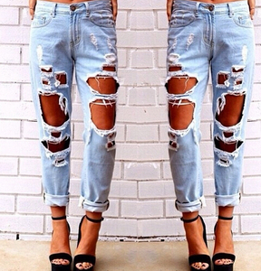 DY1005W High quality sexy women denim jeans, ladies legging ripped jeans