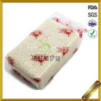 custom made rice packing gusset vacuum bag with handle