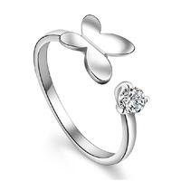 Fine jewelry 100% 925 Sterling Silver butterfly ring