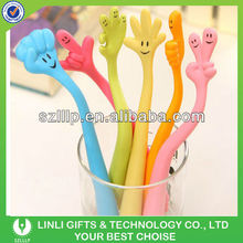 Different hand sign soft pvc finger pen