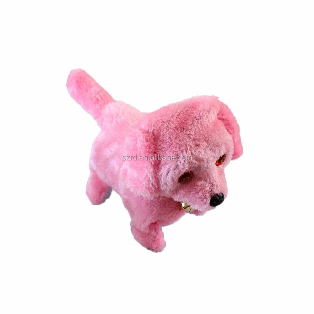 Baby Blue Plush Walking Barking Electronic Dog Toy Pink/cute plush doll/customized plush smart and funny toy