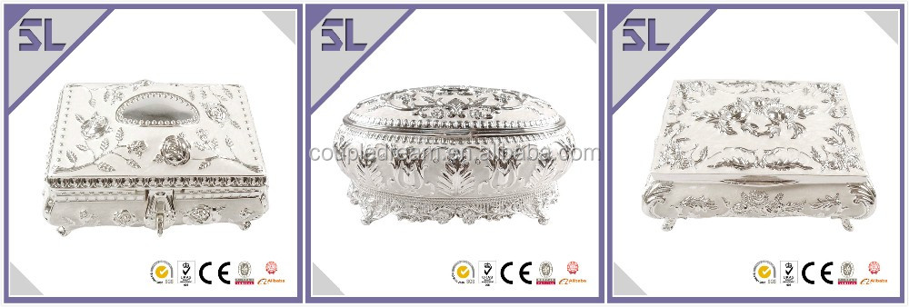 2016 New Coming Design Luxury Elegant Epoxy Gift Box With Rose Decorated for Wholesale