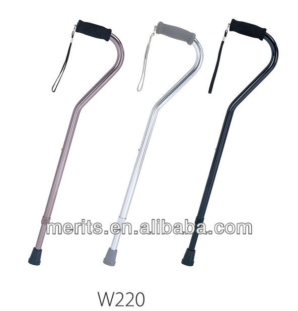 "W2203 merits health care prooduct present 7/8"" offset handle bronze color aluminum cane"