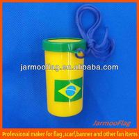 Brazil cup air horn and whistle