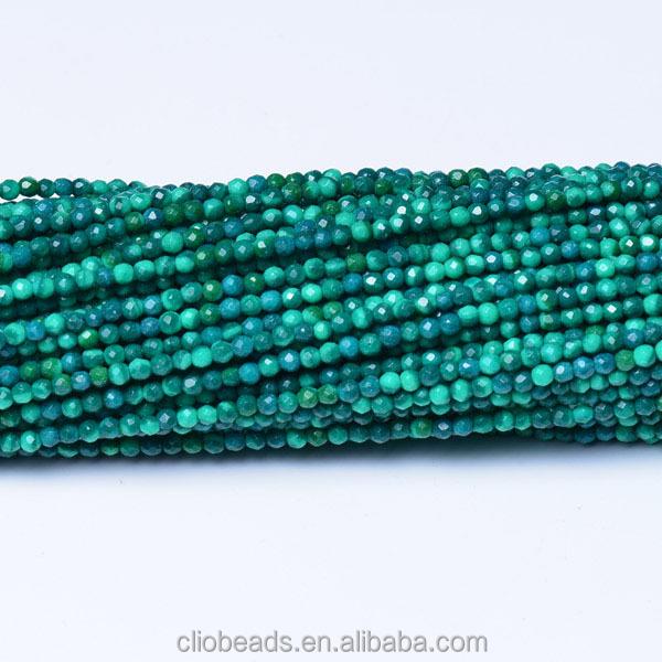 Facettes petit rond vert malachite pierre perles pour - Vert de malachite ...