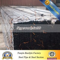 ASTM A500/A106 Carbon welded square steel pipe