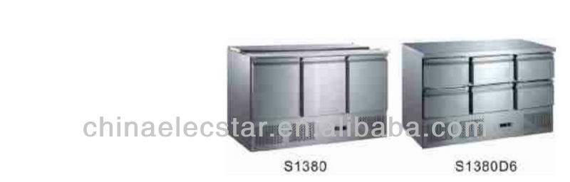 refrigerated Saladettes refrigerator for restaurant with three doors