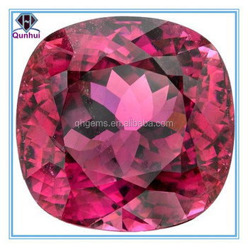 pink arc square shaped cubic zirconia stone