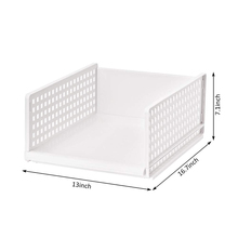 Wardrobe storage organiser box drawer type stackable plastic storage box for bedroom kitchen bathroom