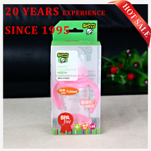 Eco-friendly Hanging Waterprof Baby Milk Bottle Clear Packaging Box With UV Printing