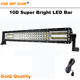 High lumen car accessories 52 inch 300w curved led light bar car led rigid bar