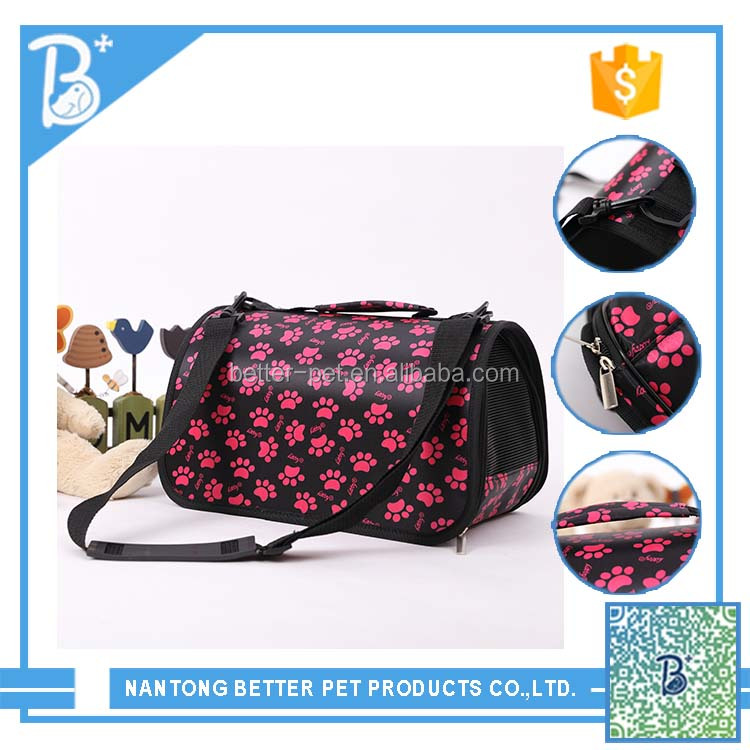 Beautiful pattern small pet carrier dog cat tote dog kennel travel Bag