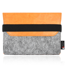 Premium felt PU leather case bag for apple magic keyboard