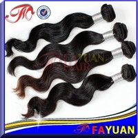 double sewing body wave hair 7A grade quality wholesale virgin brazilian hair