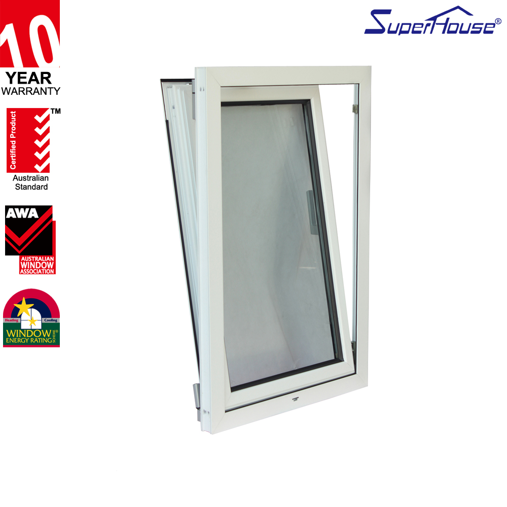 double glass australian standard aluminum tilt and turn windows with net made in China