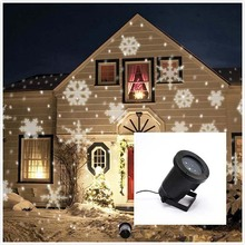 12V Led Outdoor Landscape White Snowflake Projector Lawn Garden Spot Lamp