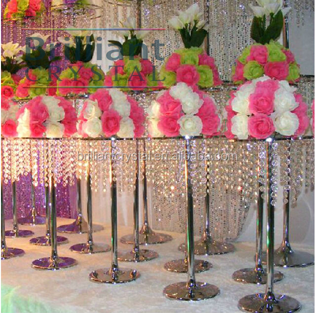 crystal beads wedding table centerpiece decorations crystal aisile pillars