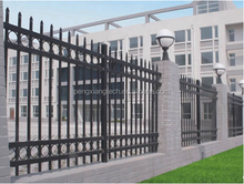 Ornamental elegent wrought iron artificial fence
