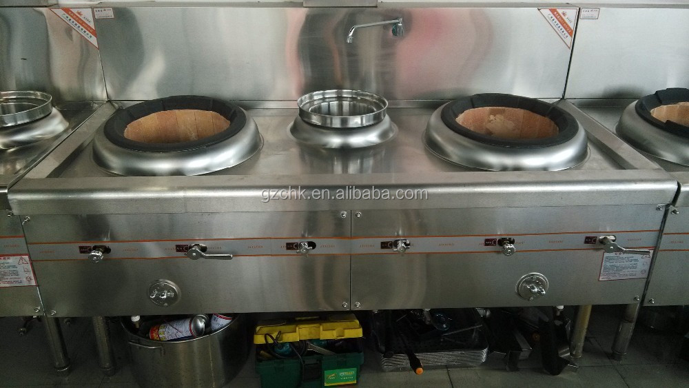 Chinese style cooking range with 2 burner and warmer /professional stainless steel gas wok/diesel wok
