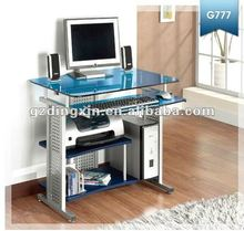 Glass computer table for dinning room (DX-8807RB)