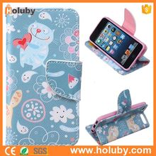Wallet Flip PU Leather Case for iPod Touch 5,Card Holder Case for iPod Touch 5