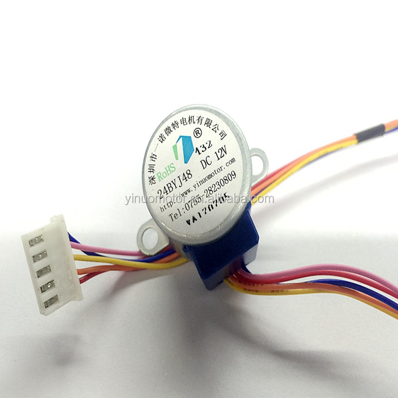 Free Sample 24BYJ48 geared motor 12VDC Stepper Motor