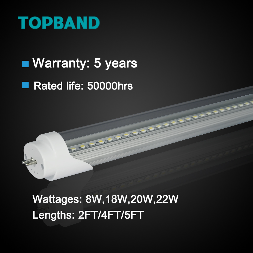 18W 4FT 1163mm T8 to T5 Bi-Pin Modified T5 Tubes Aluminum PC G5 End Cap Light T5 adapter for T8 LED tube