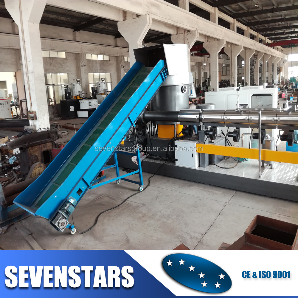 two stage plastic recycling machine/film pelletizing machine