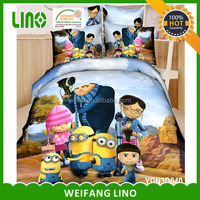 new design cartoon bed sheet kids bedding set/children bed sheet/bedding 3d cotton