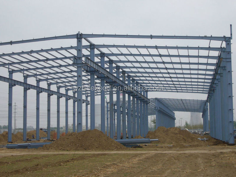Big /Large Steel Structure/Frame/Construction Building/Factory/Work Shop /Plan/With Sandwich Panel As Cladding System