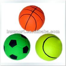 neon color pet toy rubber ball