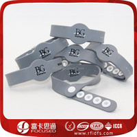high end event and access use pass rfid silicone wrist bands with Ntag213 chip