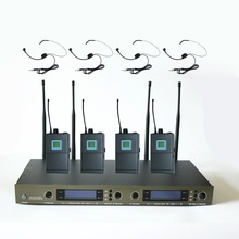 U-4004 Pro Wireless Microphone System 4 Channel Headset Mic and 4 Cordless Transmitter