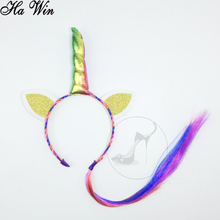 Wholesale Newly Kids Hair Accessories Unicorn Headband