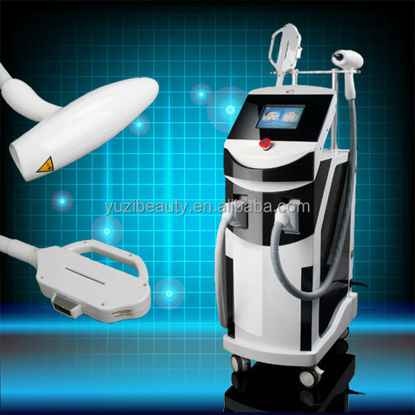 2014 Newly Ice RF nd yag laser tattoo removal e-light rf ipl machine E-002