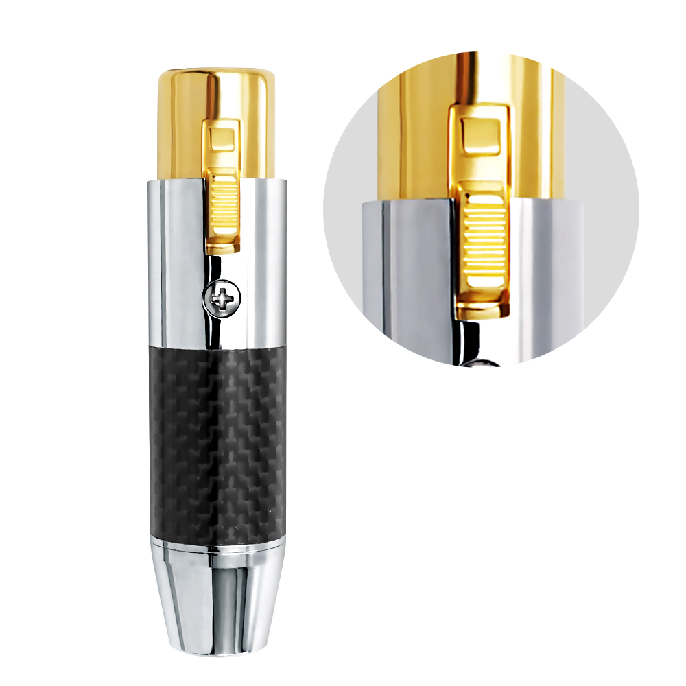 Brass + carbon fiber tube waterproof xlr Female connector