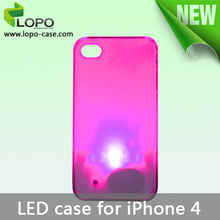 2D Sublimation LED phone case for iPhone4