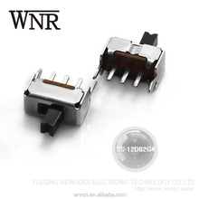 Made in china micro SMD toggle switch,single pole mini 3 ways slide switch SS-12D02G4