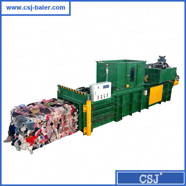 CE, ISO Hydraulic Used Clothes Compactor with Lifting Door Semi-auto Baling Machine