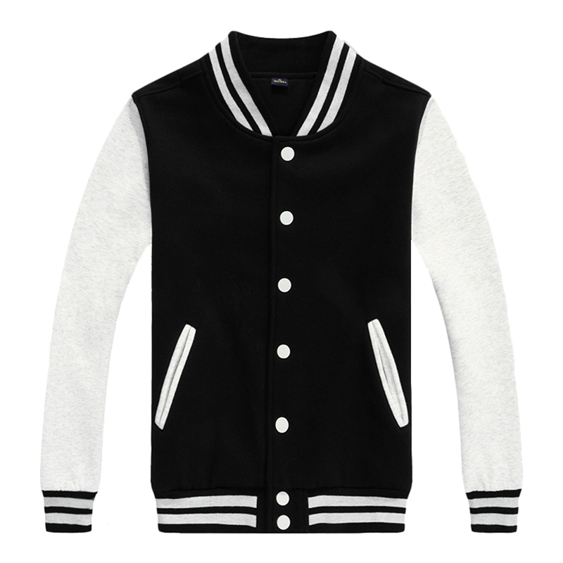 Wholesale Unisex Custom Fleece Winter Straight Plus Size Baseball Jacket for Man and Women