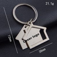 Latest design customized laser logo shopping cart coin key chain