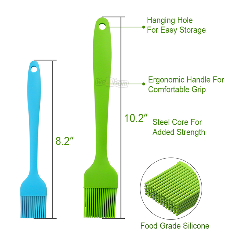 BBQ Silicone Basting Brush Barbecue Sauce Baster Baking Cooking Pastry Brushes with Black Bag
