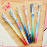 Factory hot sale creative stationery Office supply free samples multi color promotional cute 48 gel pens plastic gel pen set