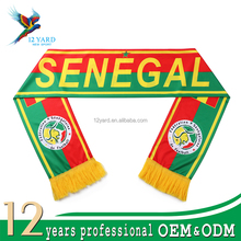 Personality sublimation printed map soccer world cup Senegal scarf