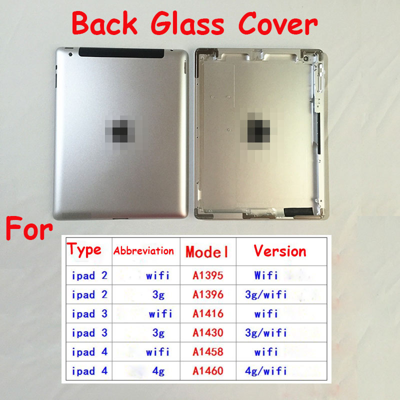 OEM original Rear Battery Door back glass for Apple iPad Tablet Housing Cover mini 1 2 3 4 5 6 Air 2 1 9.7 12.9''