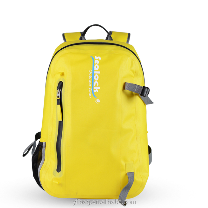 15L Yellow Waterproof Dry Bag Camping Hiking with airtight Backpack