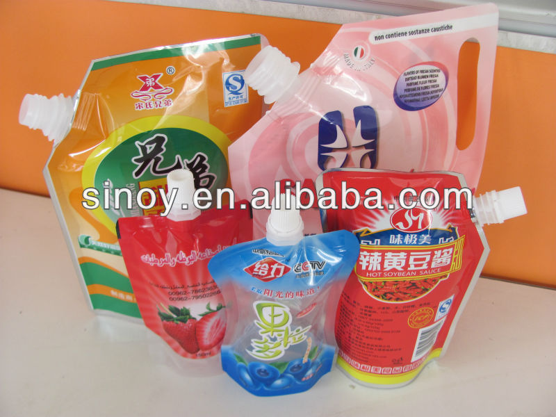 liquid stand up pouches with spout